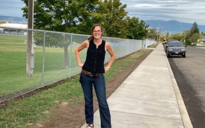 Sidewalks built with SRTS funds in La Grande!