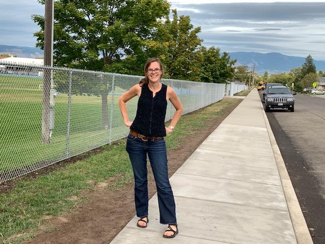Sidewalks built with SRTS funds in La Grande!